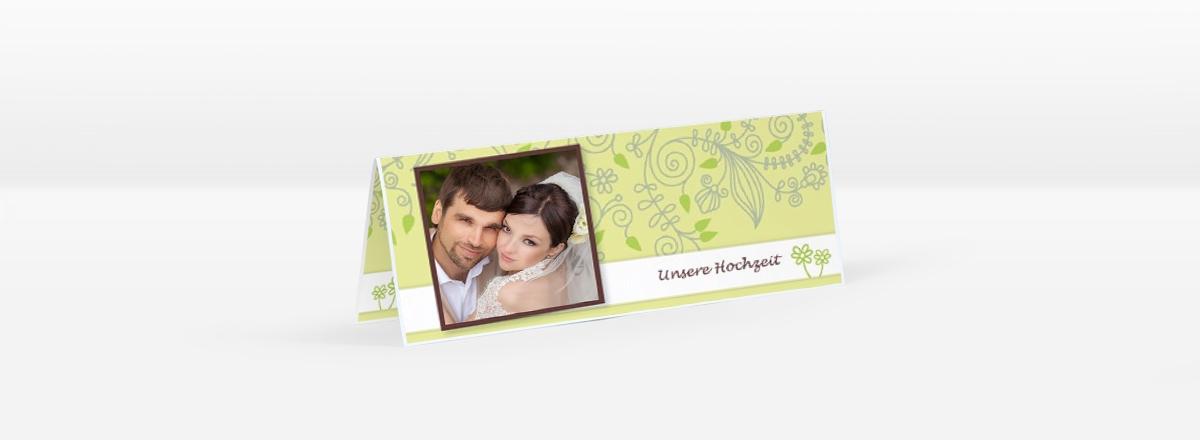 Individuelle Hochzeitskarten - Tischkarten