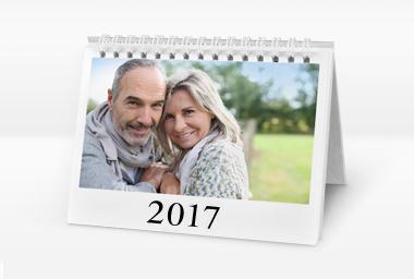 Tischkalender mit Foto im Querformat Tischkalender mit Foto im Querformat